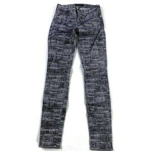 J Brand  Super Skinny Velvet Textured Pants